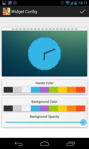 Wow KitKat Clock Widgets - виджет часов на Galaxy S4