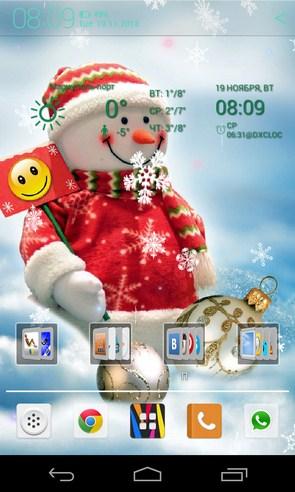 Снеговики - интерактивные обои на Samsung Galaxy S4