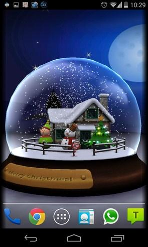 3D Christmas Advent Snow Globe - живые обои на Samsung Galaxy S4