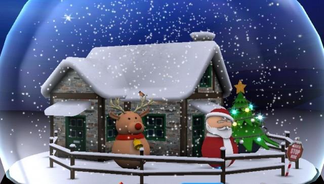 3D Christmas Advent Snow Globe - интерактивные обои на Android