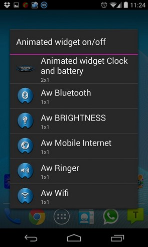 Animated widget on/off - виджеты на Samsung Galaxy S4