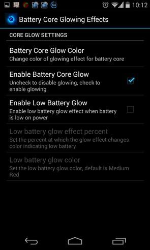 Battery Core Live Wallpaper - интерактивные обои на Galaxy S4