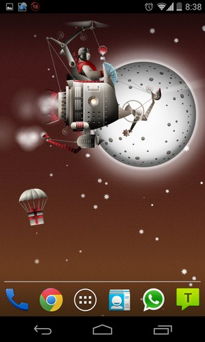 Christmas crazy machines - живые обои на Android