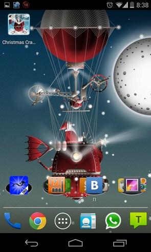 Christmas crazy machines - анимированные обои на Android