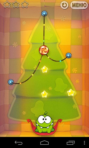 Cut the Rope: Holiday Gift - аркада на Samsung Galaxy S4