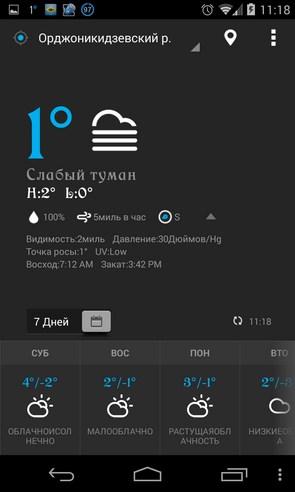 EZ Weather - прогноз погоды на Samsung Galaxy S4