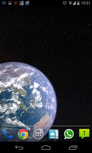 Earth & Moon in HD Gyro 3D - анимированные обои на Galaxy S4