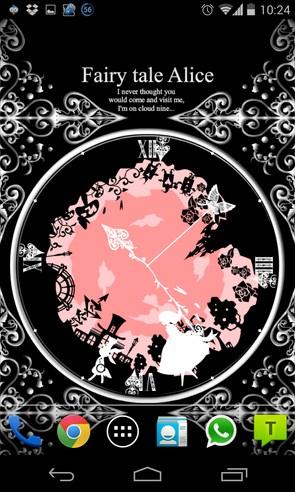 Fairy tale Alice - интерактивные обои на Samsung Galaxy S4