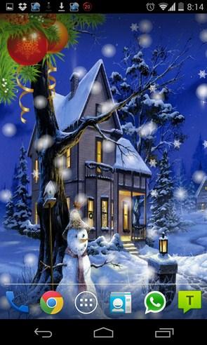 Falling Snow - живые обои на Galaxy S4