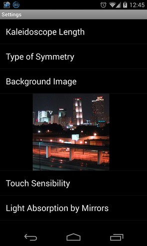 Flashy Kaleidoscope LWP - живые обои на Samsung Galaxy S4