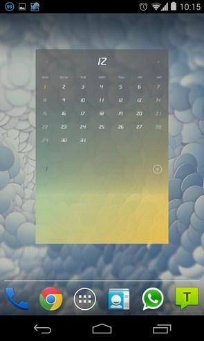 Flip Calendar + Widget - календарь на Samsung Galaxy S4