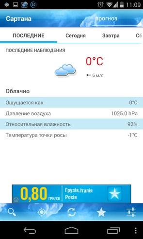 ForecaWeather - виджет на Galaxy S4