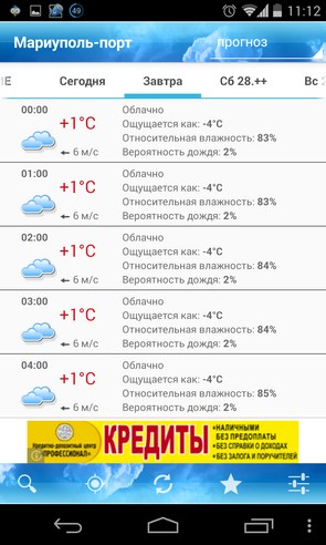 ForecaWeather - виджет погоды на Samsung Galaxy S4