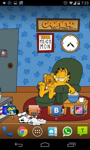 Home Sweet Garfield - анимированные обои на Samsung Galaxy S4