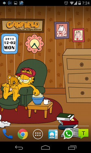 Home Sweet Garfield - интерактивные обои на Android