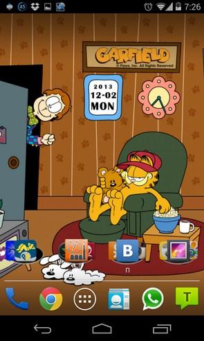 Home Sweet Garfield - интерактивные обои на смартфоны Андроид