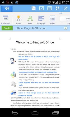 Kingsoft Office - программа на смартфоны Android