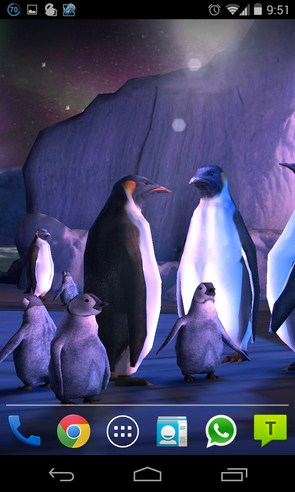 Penguins 3D Live Wallpaper - живые обои на Samsung Galaxy S4