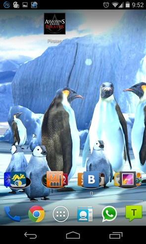 Penguins 3D Live Wallpaper - анимированные обои на Galaxy S4