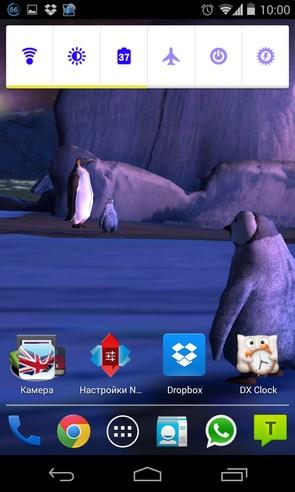 Penguins 3D Live Wallpaper - интерактивные обои на Android