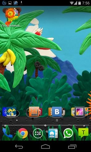 Пластилиновые джунгли - живые обои на Samsung Galaxy S4