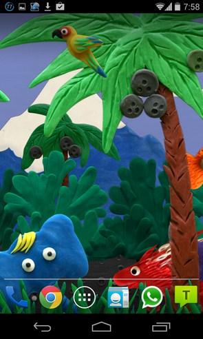 Пластилиновые джунгли - интерактивные обои на Galaxy S4