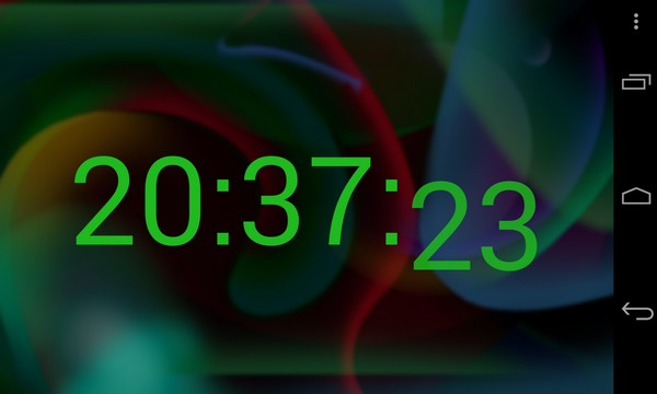 Rainbow Alarm Clock Widget - виджет часов на Samsung Galaxy S4