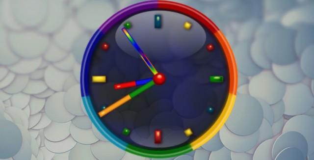 Rainbow Alarm Clock Widget - виджет часов на Galaxy S4