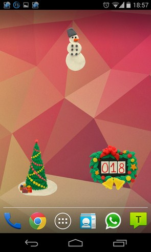 Рождественские виджеты на Samsung Galaxy S4