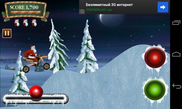 Santa Rider - гонки с Сантой на Samsung Galaxy S4