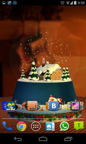 Snow Globe 3D - живые обои на Samsung Galaxy S4