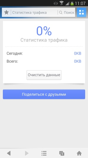 UC Browser - мониторинг трафика