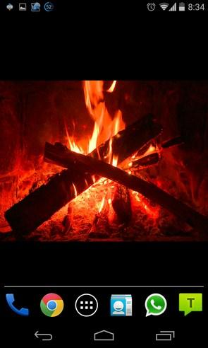 Virtual Fireplace - живые обои на Samsung Galaxy S4