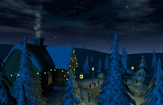 Winter 3D, True Weather - интерактивные обои на Android