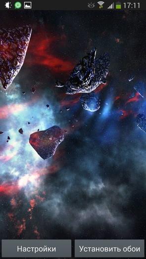 Живые обои Asteroids Pack для Note 3