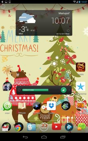 Christmas Dance Wallpaper - елка, Санта и олени