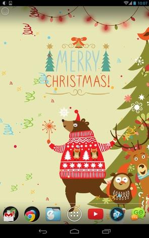 Christmas Dance Wallpaper - живые обои к рождеству