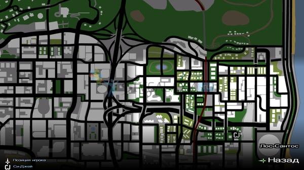 Grand Theft Auto: San Andreas - карта