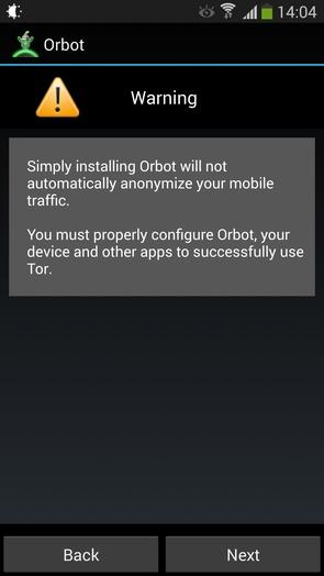 Orbot - анонимность в сети на Galaxy S4