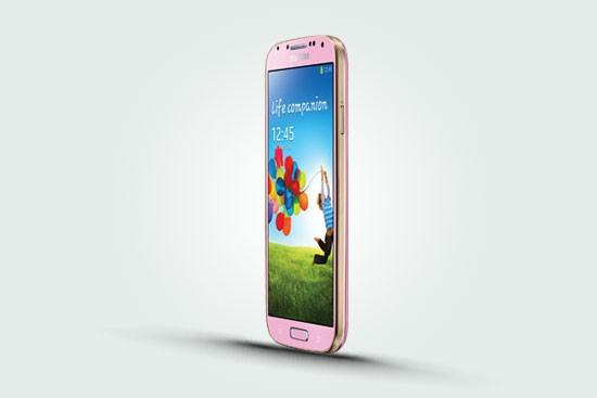 Samsung Galaxy S4 Pink - розовый корпус