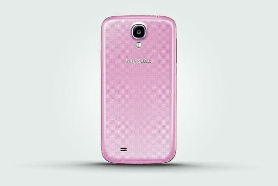Розовый Samsung Galaxy S4 - задняя панель
