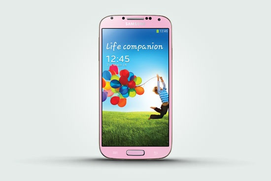 Розовый Samsung Galaxy S4