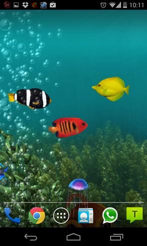 Aquarium Live Wallpaper - анимированные обои на android