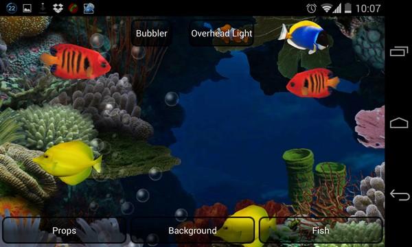 Aquarium Live Wallpaper - живые обои на Samsung Galaxy S4