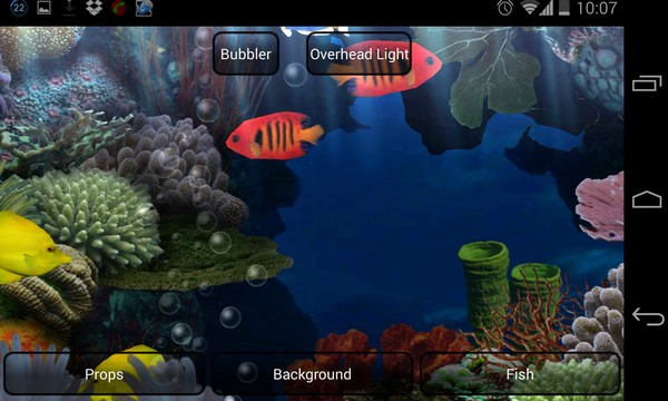 Aquarium Live Wallpaper - живые обои на Samsung Galaxy S4