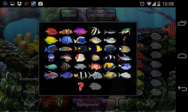 Aquarium Live Wallpaper - интерактивные обои на Галакси С4