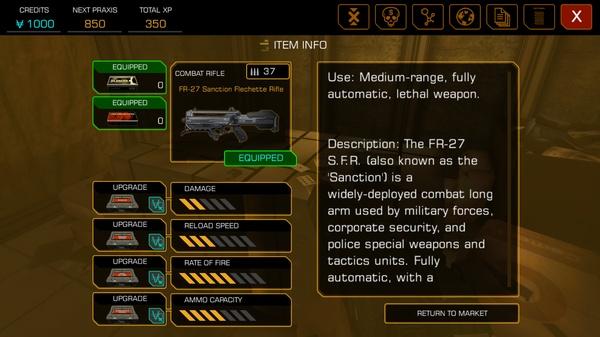 Deus Ex: The Fall - прокачка оружия
