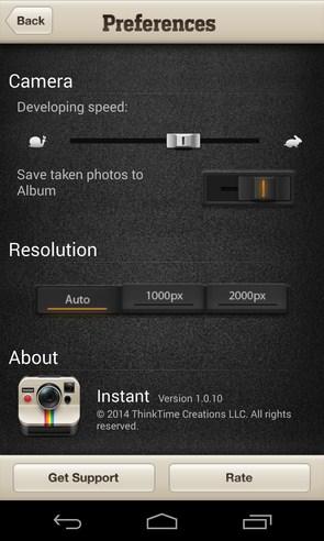 Instant - приложение на Galaxy S4