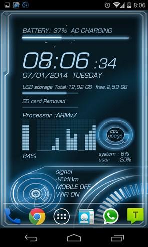 Mobile Info - анимированные обои на Galaxy S4