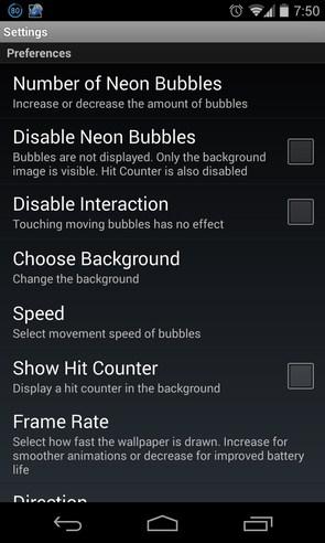 Neon Bubble Live Wallpaper - живые обои на Galaxy S4